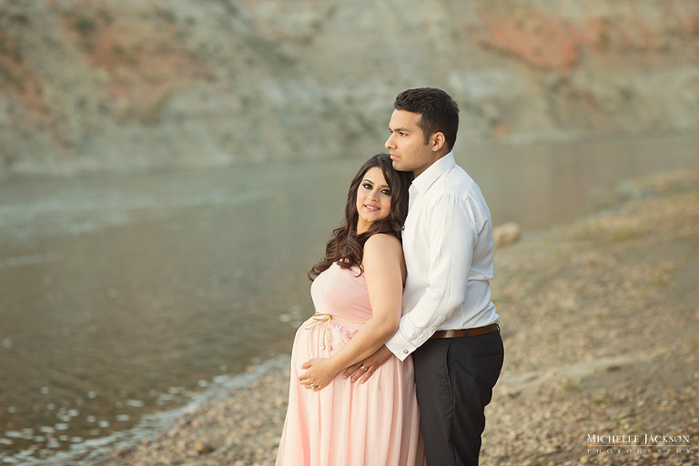 River Sunset-Edmonton Maternity Photographer - Edmonton