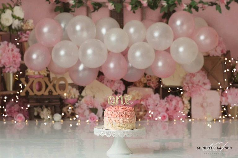 Edmonton cake smash photographer-roses