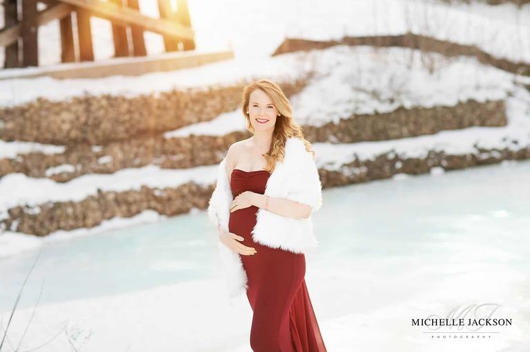 Edmonton maternity session-winter